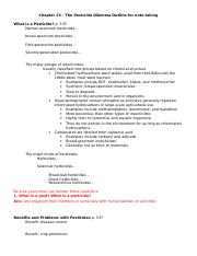 Ch 23 Pesticides Outline for notes with ANSWERS to questions.doc