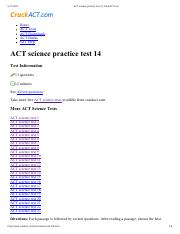 ACT science practice test 14_CrackACT pdf - ACT science