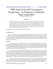 IFRS and US GAAP - LIFO