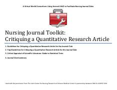 Nursing Journal Toolkit_Quant