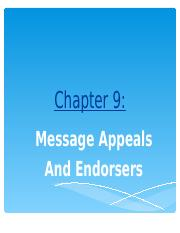 NEW Session  9 - Endorsers & Mesage Appeals(1).ppt