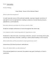 Case Study- Tumor of the Adrenal Gland .docx