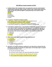 TEST 2 Practise Questions Fall 14 answers