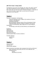 ANT 2511 Exam 1 Study Guide.docx