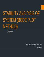 STABILITY OF THE SYSTEM BODE PLOT.pptx