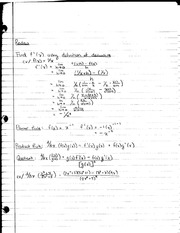 MATH 1231 Lecture Notes on Power and Chain Rule