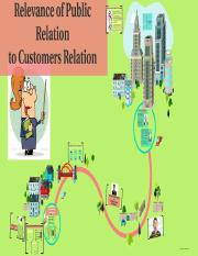 RELEVANCE OF PUBLIC RELATION TO CUSTOMERS RELATION BY DE LIMA