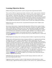MKT_421_Learning Objectives Review_Chapter Six.docx