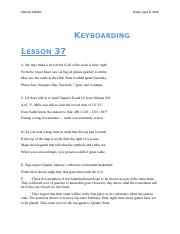 keyboarding lesson 37-38