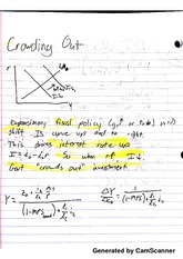 Intermediate Macroeconomics - Crowding Out Notes