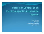 Fuzzy PID Control of an Electromagnetic Suspension System - revised