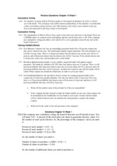 Practice Questions and solutions Chapter 15 Week 1
