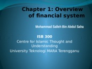Chapter 1 Overview of Financial System
