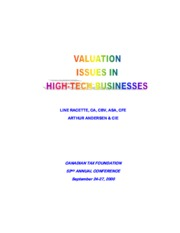 ValuationIssuesinHigh-TechBusinesses