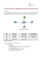 Ch7 Basic Router Configuration and CLI (Packet Tracer)-1