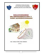 Solucionario Aire Acondicionado Refrigeracin Y Aire Acondicionado 2014 Universidad Tcnica De Oruro Facultad Nacional De Ingenieria Ingenieria Course Hero