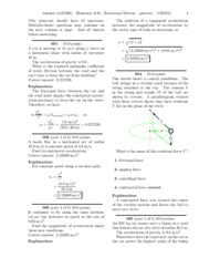 Homewor #10 - Rotational Motion-solutions