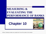CHAP_10_Measuring and evaluating the performance of banks and their principal competitors