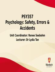 Lecture 5 - The Safety Space and Error Management