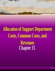 Cost Accounting - ch15