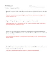Bacterial Genetics Worksheet