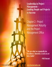 Leadership in Project Management - Chapter 2 - Instructor Slides - May 14, 2013