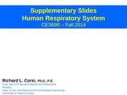 Human Respiratory System - Supplementary Slides - CE369R