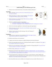 Arthropod Guided Reading