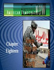 CH 18 FOREIGN POLICY & NATIONAL SECURITY