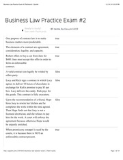 Business Law Practice Exam #2 flashcards | Quizlet