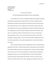 Spring2015 Essay 1 Model (Spring Breakers)