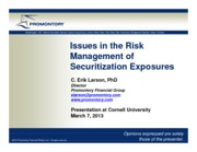 Larson_SecuritizationRisk_7March2013