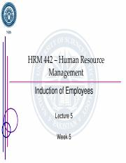 Lecture 6 - Induction of Employees