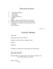 ClassNotes_Chapter2- Scientific Method
