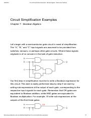 Circuit Simplification Examples _ Boolean Algebra - Electronics Textbook