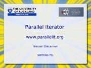 SOFTENG 751 Parallel Iterator