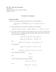 EC 720 Fall 2011 Problem Set 4 Solutions