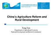 S2a-Fang Yan-China Agriculture Reform and Rural Development