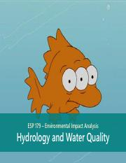 ESP179-Class13-Hydrology-Water-Quality