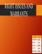 Right Issues and Warrants