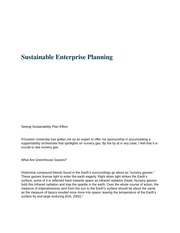 mgt 448 (Sustainable Enterprise Planning)