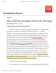 NYT How Did Economists Get It So Wrong_ - The New York Times