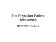 4 - The Physician-Patient Relationship(1)