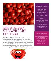 Strawberry Festival_Ray_Tammie_Week 3 Discussion.docx