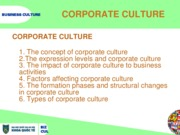 Business culture - Chapter 2 - Corporate culture HoangTM 2014 - V1