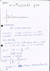 Linear Operators (lecture notes)