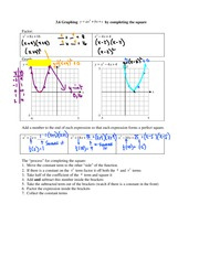 3.6 Graphing by Completing the Square