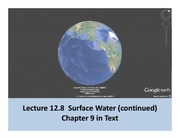 Lecture 12 Part 2 Surface water