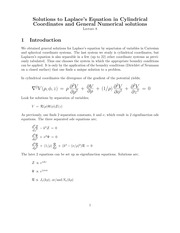 Lecture 8 on Mathematical Methods 1