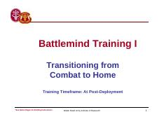 PDHRA Battlemind Training for Soldiers 1